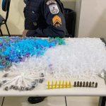 PM apreende munições e drogas em SJB