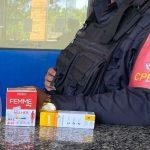 Mulher presa após furtar produtos de farmácia em SJB