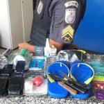 Homem preso após furtar produtos de comércio em SJB