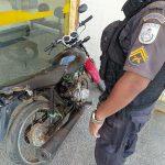 Motocicleta furtada é recuperada pela PM em SJB