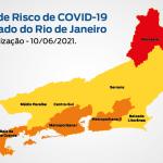 Mapa de Risco Covid-19: estado do Rio de Janeiro mantém bandeira laranja