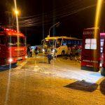 Mulher morre após acidente com ônibus no Centro de SJB