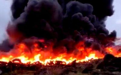 Incêndio de grandes proporções mobiliza Corpo de Bombeiros em SJB